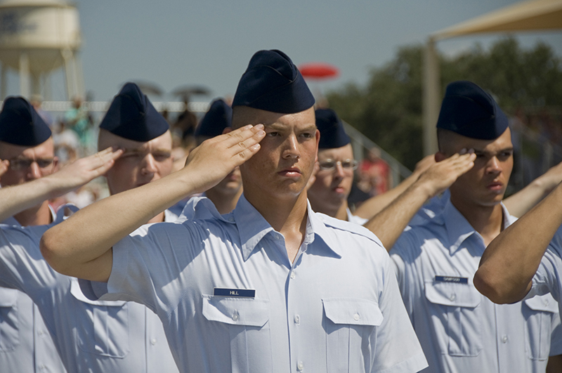 Lackland BMT Parade Airman